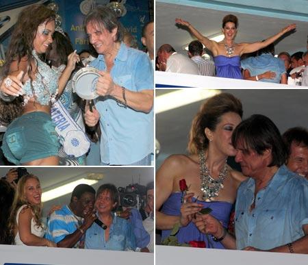 Roberto Carlos e Cláudia Raia: quem não gosta de samba, bom sujeito não é