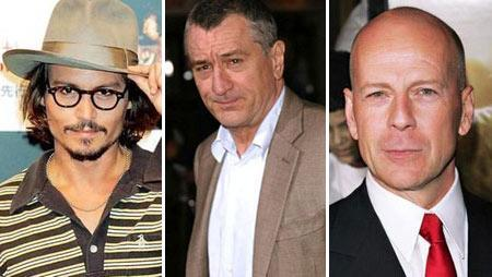 Johnny Depp, Robert de Niro and Bruce Willis: have died the most in Hollywood