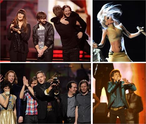 Lady Antebellum, Lady Gaga, Arcade Fire e Mick Jagger: noite das estrelas da música