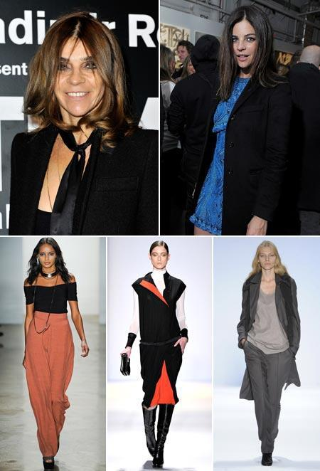 Carine and Julia Roitfeld, Gracie Carvalho for Vena Cava, Fabiana Meyer for BCBG Max Azria, and Aline Weber for Richard Chai Love: first day at New York Fashion Week