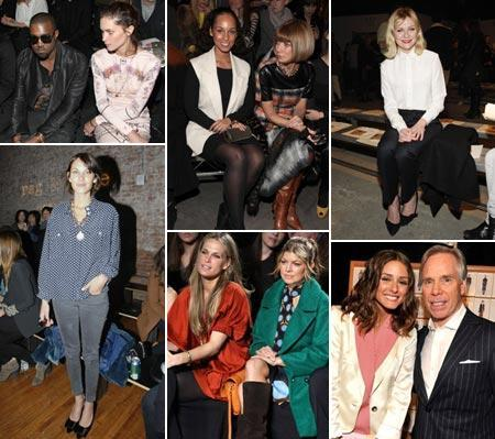 Erin Wasson and Kanye West, Alicia Keys and Anna Wintour, Kirsten Dunst, Alexa Chung, Molly Sims and Fergie and Olivia Palermo and Tommy Hilfiger: New York Fashion Week