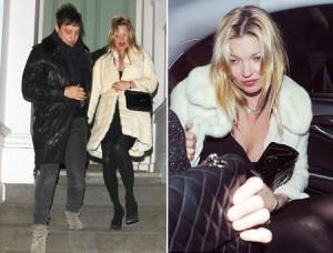 Mal desfez a mala, Kate Moss já foi badalar com o noivo em Londres!