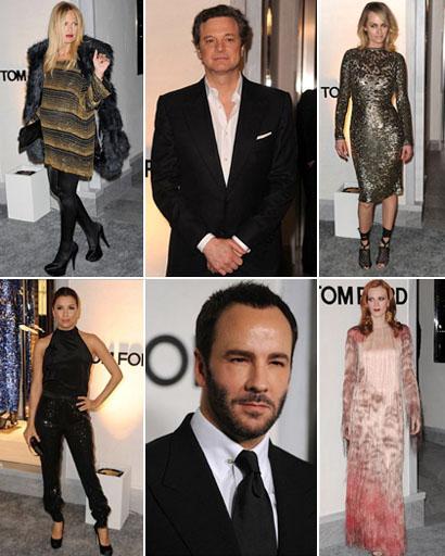 Rachel Zoe, Colin Firth, Amber Valletta, Eva Longoria, o anfitrião Tom Ford, Karen Elson: novo hot spot de Los Angeles