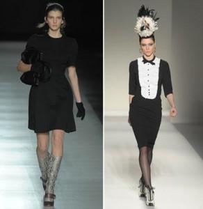 A Prada e a Moschino apostam em looks mais discretos para o inverno 2011/12. O que vocês acham?