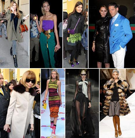 Bianca Brandolini, Anja Rubik, Giovanna Battaglia, Frida Giannini, Lapo Elkann, Anna Wintour, Dolce & Gabbana, Gucci and Fendi: elegance at Milan Fashion Week