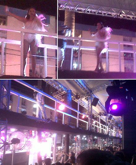 Ivete Sangalo na passarela: estrutura montada no camarote Cerveja & Cia. fez a alegria dos convidados!
