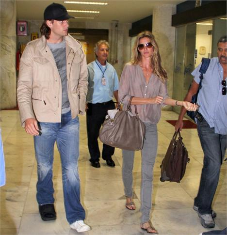 Tom Brady and Gisele Bundchen: Arrival at Santos Dumont Airport