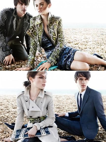 Tali and Tara Lennox Ferry: stars of Burberry's March campaign
