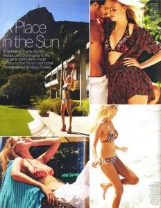 Glamurama já tem as imagens do editorial da Vogue norte-americana clicadas no Rio com a Lara Stone. Vem ver!