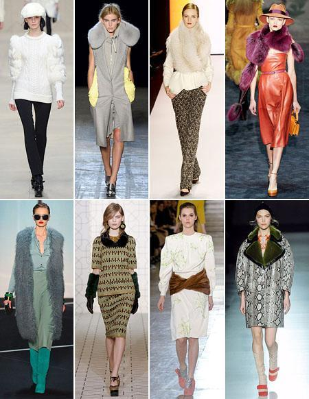 Burberry, Alexander Wang, Carolina Herrera, Gucci, Diane von Furstenberg, Marni, Miu Miu and Prada: the more fur the better!