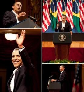 Obama discursou para uma plateia estrelada. Veja quem roubou a cena