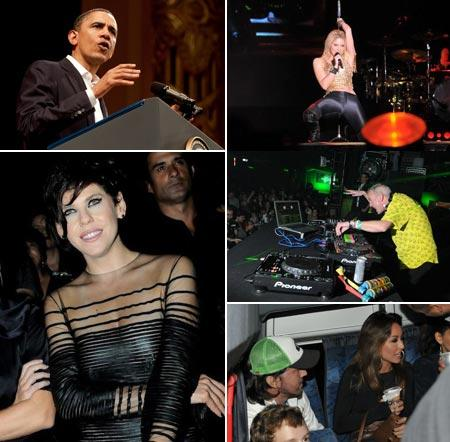 Barack Obama, Shakira, Fatboy Slim, Sabrina Sato e Fábio Faria e Bárbara Paz: personagens do fim de semana
