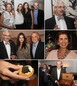 Adriana Tutundjian e Patricia Abdalla comandaram um jantar regado a champagne e caviar… uh la la