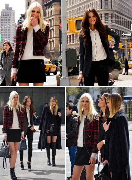 Izabel Goulart, Aline Weber e Anne V.: juntas na campanha de inverno 2011 da DKNY