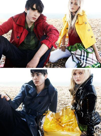 Sophie Kennedy-Clark and Matthew Beard: Burberry's couple in April