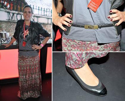 Carol Porto: look correto para um show de rock