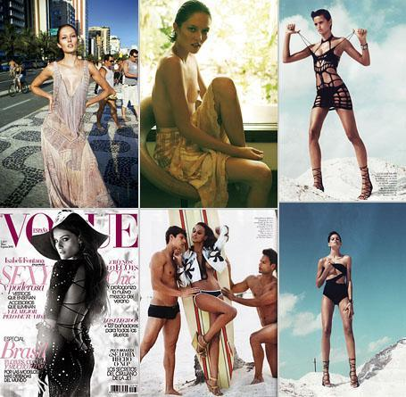 Editorials with Solange Wilvert, Izabel Goulart, Gracie Carvalho and cover with Isabeli Fontana: Brazil on the rise in Vogue Spain's May edition