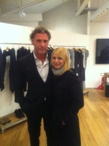 Claire Danes conheceu um estilista brasileiro bem bacana hoje…
