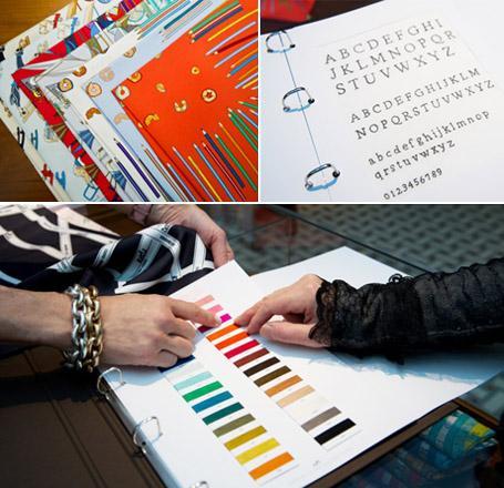 652bb040c61 Customização de lenços Hermès  um ...