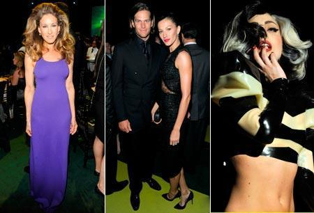 Sarah Jessica Parker, Gisele Bundchen and Tom Brady and Lady Gaga: gala early this week