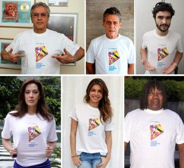 Caetano Veloso, Chico Buarque, Caio Blat, Cláudia Raia, Grazi Massafera e Milton Nascimento: em campanha por uma causa nobre