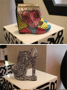 O designer de sapatos alemão Nicholas Kirkwood acaba de criar uma coleção em homenagem ao artista Keith Haring!