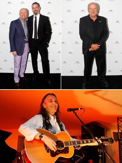 Georges Kern, CEO da ICW, com Matthew Fox, Peter Lindbergh e Roger Hodgson: jantar em Cannes