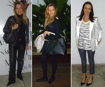 Bettina Iampolsky Quinteiro, Sandrine Nass e Fabiana Delfim: visitinha boa