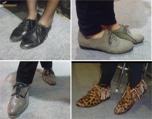 Hoje encontramos quatro modelos usando o sapato do dia: Oxford!