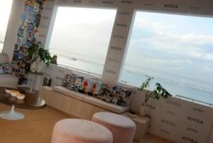 O lounge da NIVEA no Fashion Rio tem, além de badalação, vista de cartão postal!