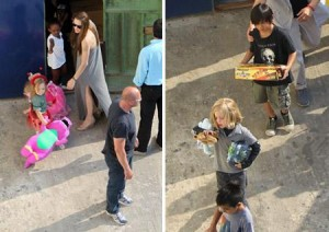 Mudança básica para Malta. A família Jolie-Pitt foi de mala e cuia pra lá!