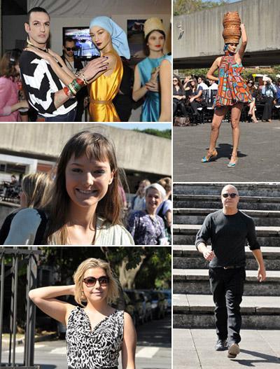 Dudu Bertholini com Bruna Tenório, Carol Ribeiro no desfile, Mallu Magalhães, Luiza Possi e Cacá Ribeiro: emoção entre amigos