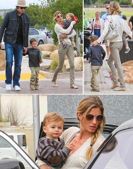Tom Brady, John, Gisele Bundchen and Benjamin: happy family
