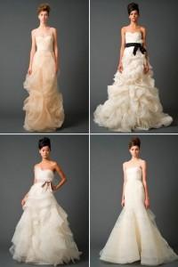 Atenção glamurettes noivas: os modelitos de Vera Wang estão desembarcando por aqui…