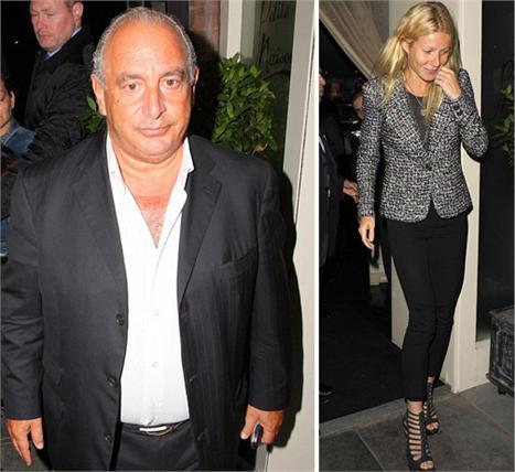 Sir Philip Green e Gwyneth Paltrow: jantando juntos em Londres para definir suposta parceria com a Topshop