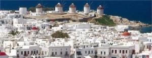 Maria Shriver e uma turma de famosos está invadindo Mykonos, na Grécia!
