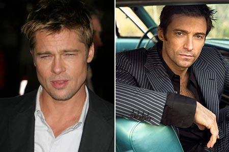 Brad Pitt e Hugh Jackman: fantasias de galinha e de palhaço nunca mais!