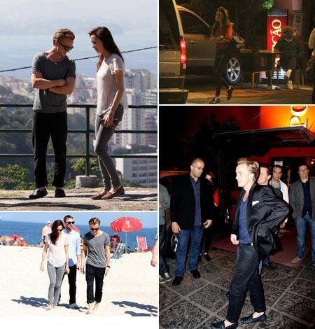 Tom Felton e Jade Olivia pelo Rio de Janeiro: primeira visita