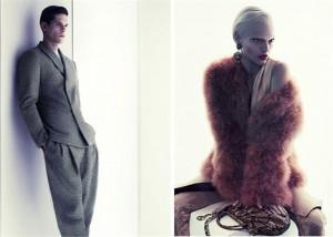Já viu o modelo brasileiro Diego Fragoso na campanha de inverno 2011 da Giorgio Armani??