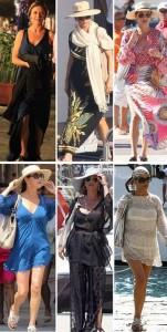Vem ver os looks lindos que Catherine Zeta-Jones levou na mala para Portofino…