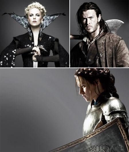 Charlize Theron, Chris Hemsworth and Kristen Stewart: Snow White remodeled