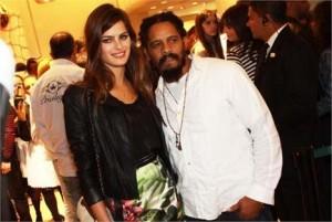 Isabeli Fontana foi ao lançamento de verão 2012 da Morena Rosa com…. Rohan Marley.
