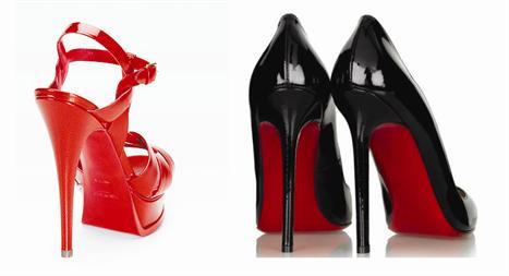 Sapatos YSL e Christian Louboutin: solado vermelho liberado!