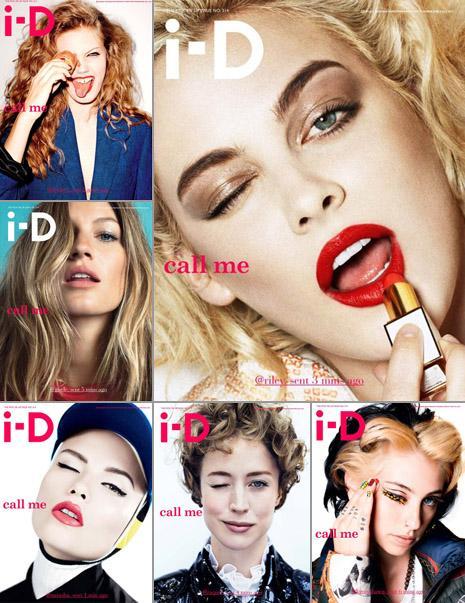 """Riley Keough, na foto maior: uma das seis capas da nova """"i-D"""""""