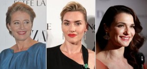 As atrizes Kate Winslet, Rachel Weisz e Emma Thompson formam a Liga Britânica contra a Cirurgia Plástica
