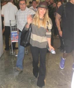 Hilary Duff já está no Copacabana Palace…