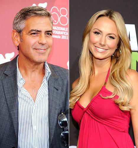 George Clooney e Stacey Keibler: o amor é lindo!