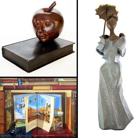Obras de Israel Macedo, Sônia Menna Barreto e Odete Figueiredo: Mostra de Artes Figueiredo