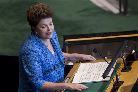 Presidente Dilma Rousseff: destaque na imprensa internacional