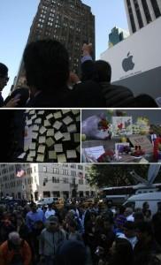 As maçãs invadiram as lojas da Apple pelo mundo…